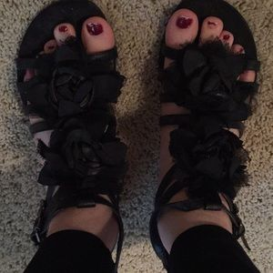Aldo flower sandals